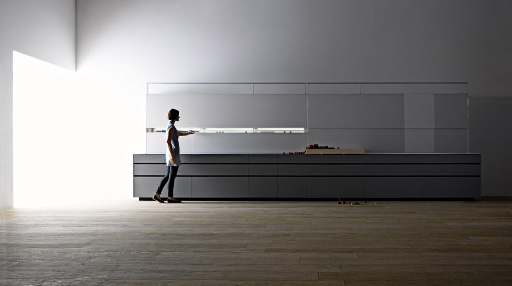 Функциональная мебель для кухни в сером цвете - Фото 9