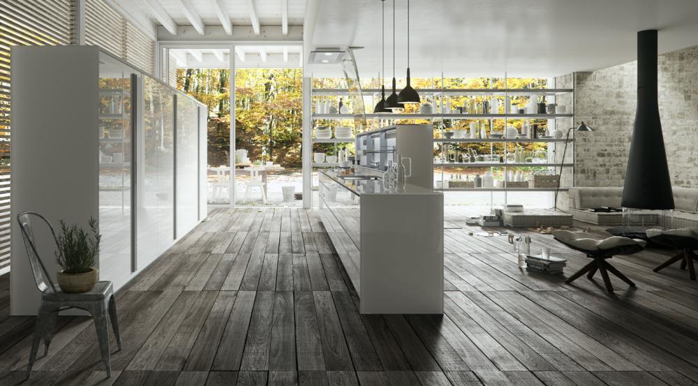 Функциональная мебель для кухни в белом цвете - Фото 1