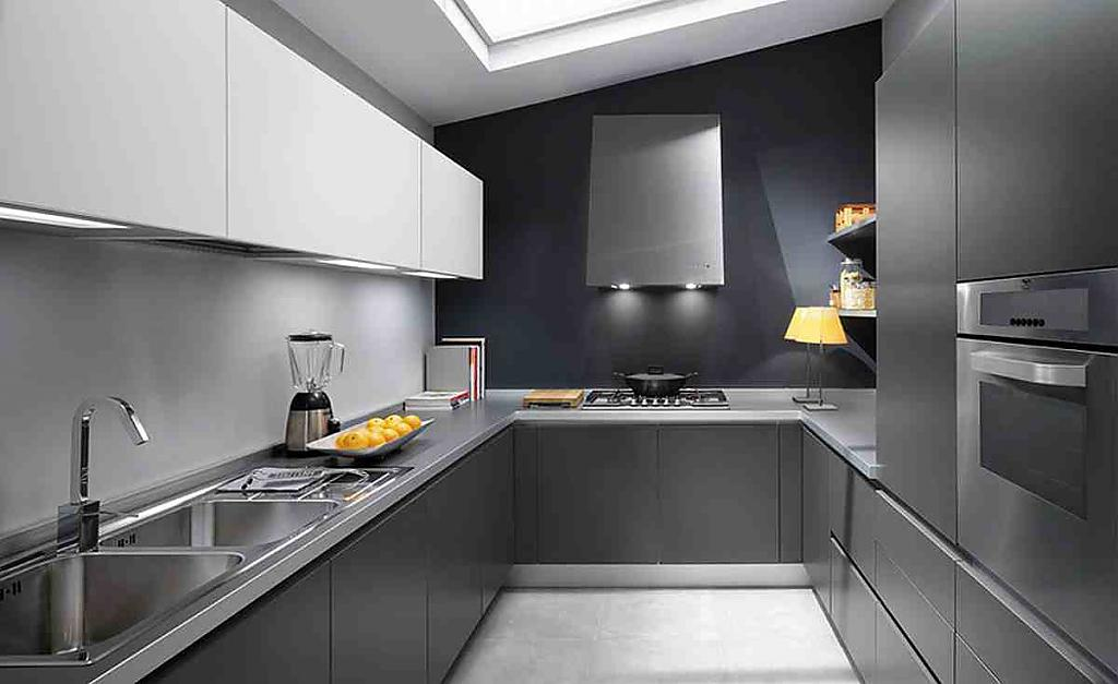Дизайн интерьера серой кухни