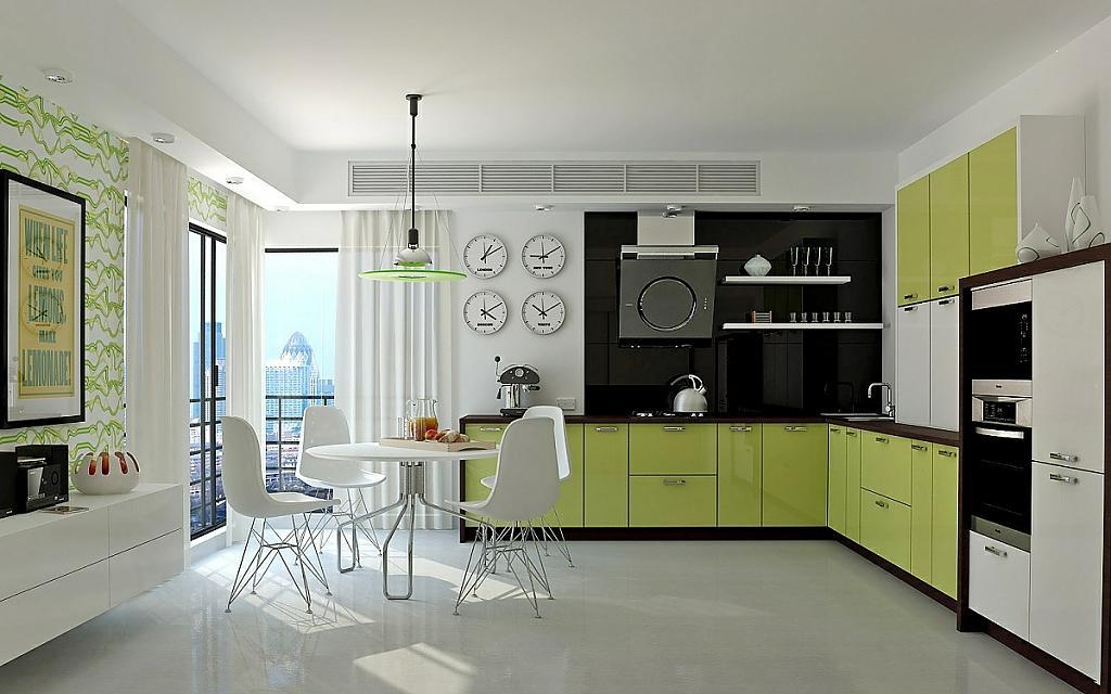 Фото зеленой кухни: впечатляющий дизайн