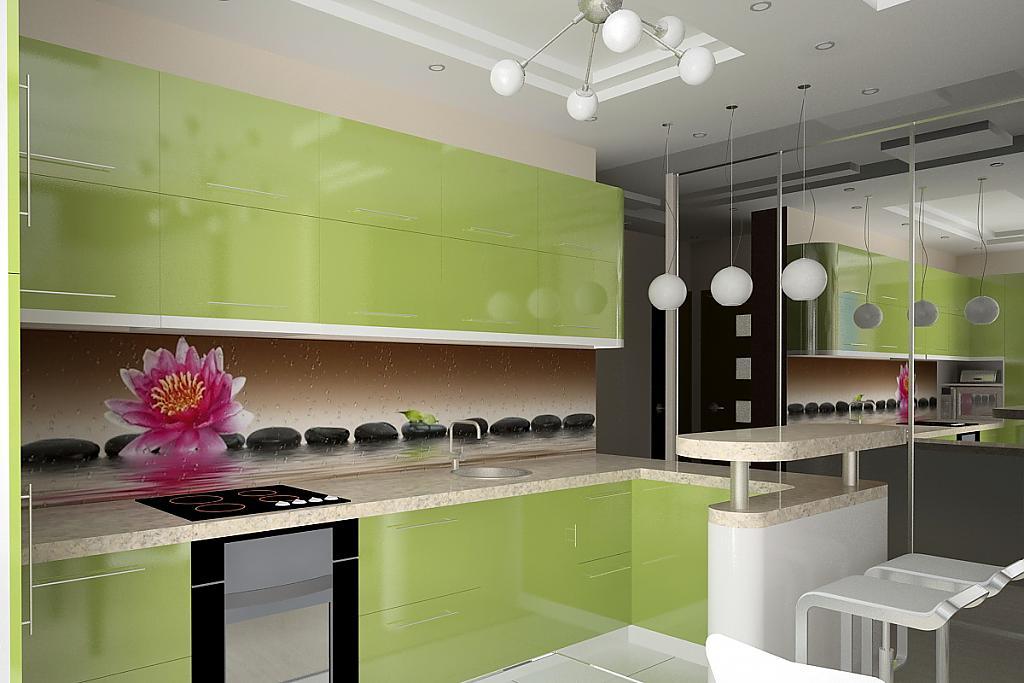 отжимаем, смешиваем красивые зеленые кухни фото началом работ
