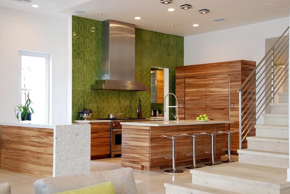 Зелёный кухонный фартук от Walker Zanger