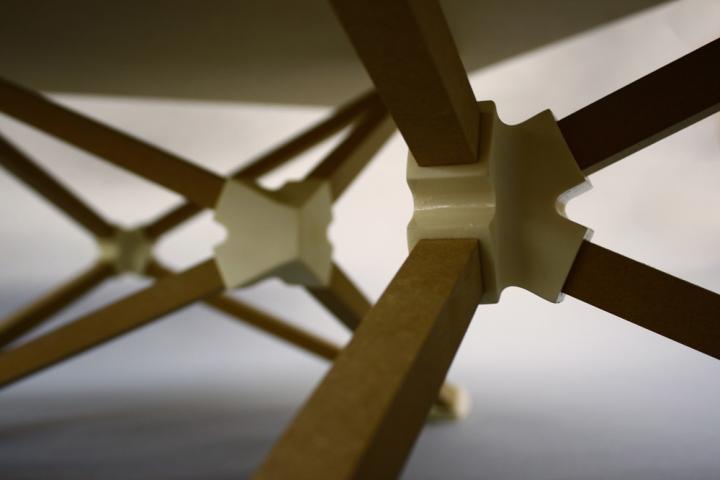 Необычный дизайн кофейного столика Hedron