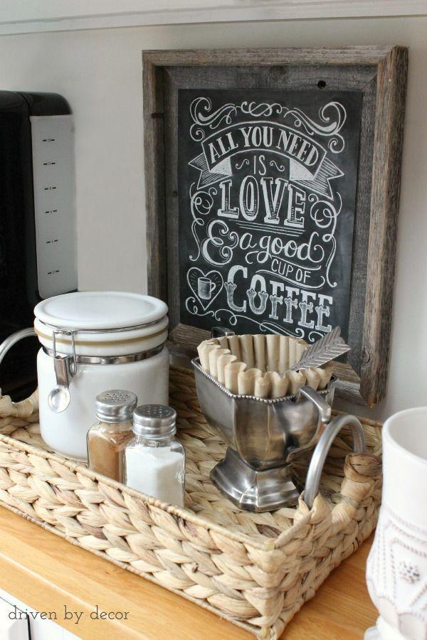 Большая корзина с ручками для кофе