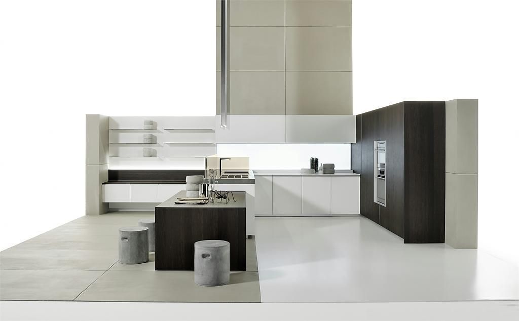 Wall mounted air switch kitchen hood from elica
