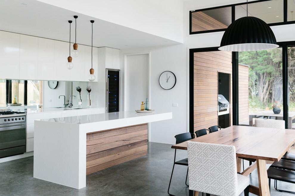 Идеи дизайна кухни - интерьер в белом цвете