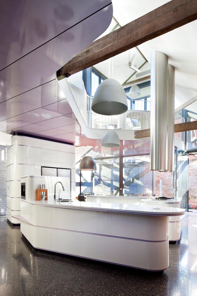 Идеи дизайна кухни - ультрасовременный глянцевый гарнитур