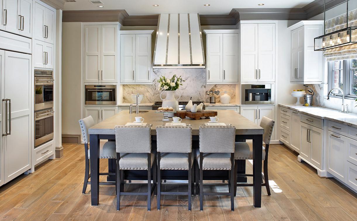 Обновление кухни: роскошная обстановка