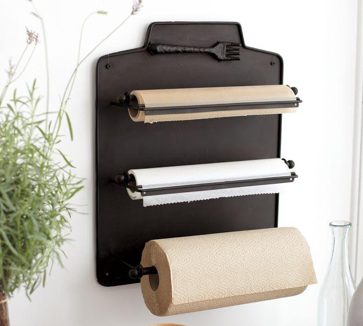 Настенный держатель для бумажных полотенец, салфеток и крафт-бумаги