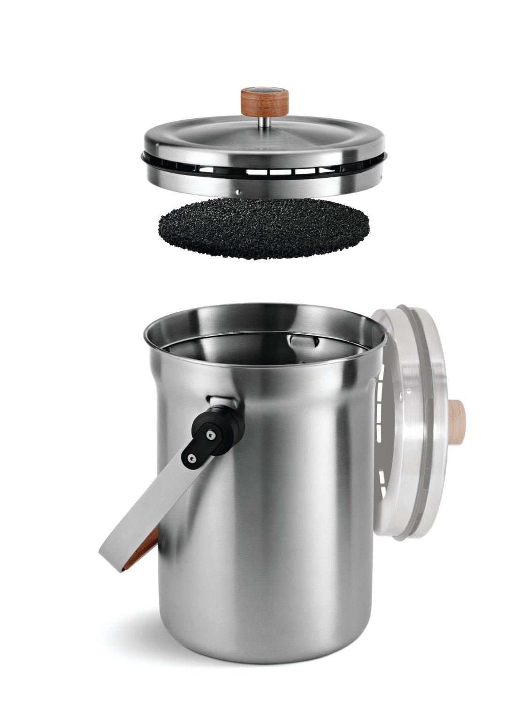 Ведерко с системой поглощения запахов для хранения компоста