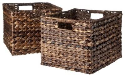 Плетеные корзины для хранения овощей