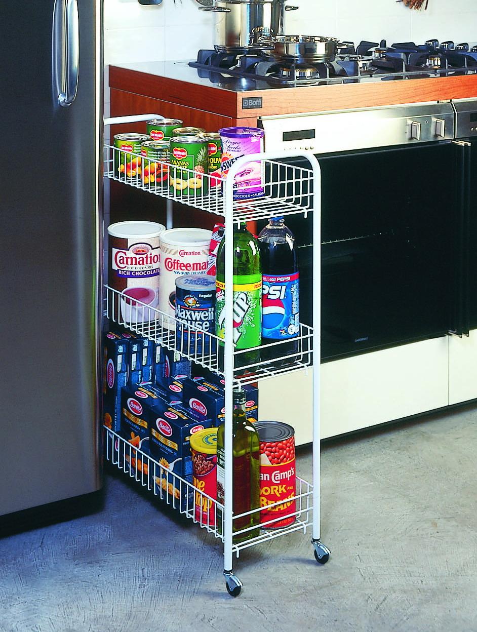 Место для хранения кухонных аксессуаров