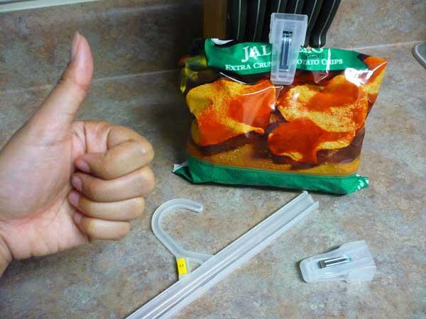 Прищепки для упаковки с чипсами