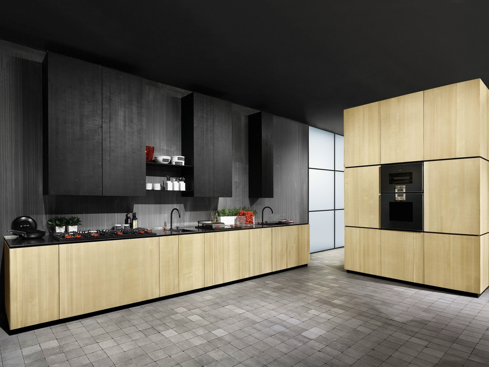 Индустриальный стиль в интерьере кухни из натуральных материалов