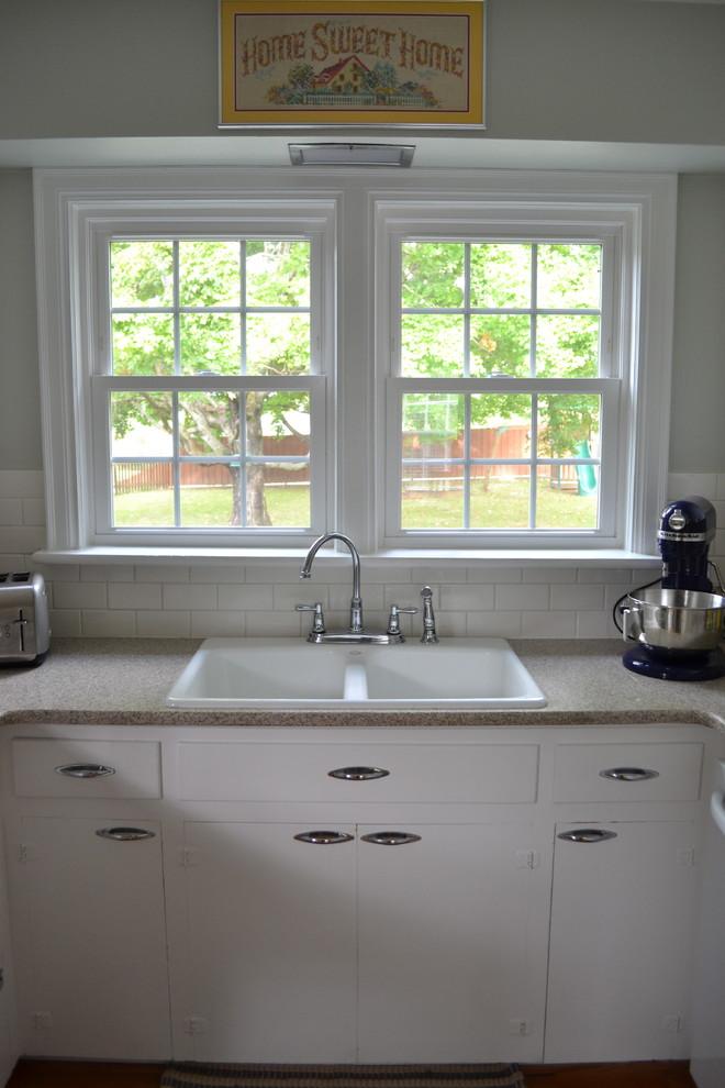 Кухонный фартук из плитки – фото после установки