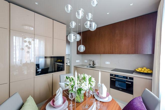 Дизайн современного интерьера кухни-столовой
