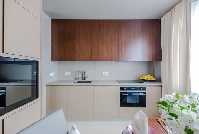 Профессиональный дизайн современного интерьера кухни-столовой от Александры Фёдоровой