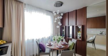 Профессиональный дизайн современного интерьера кухни-столовой