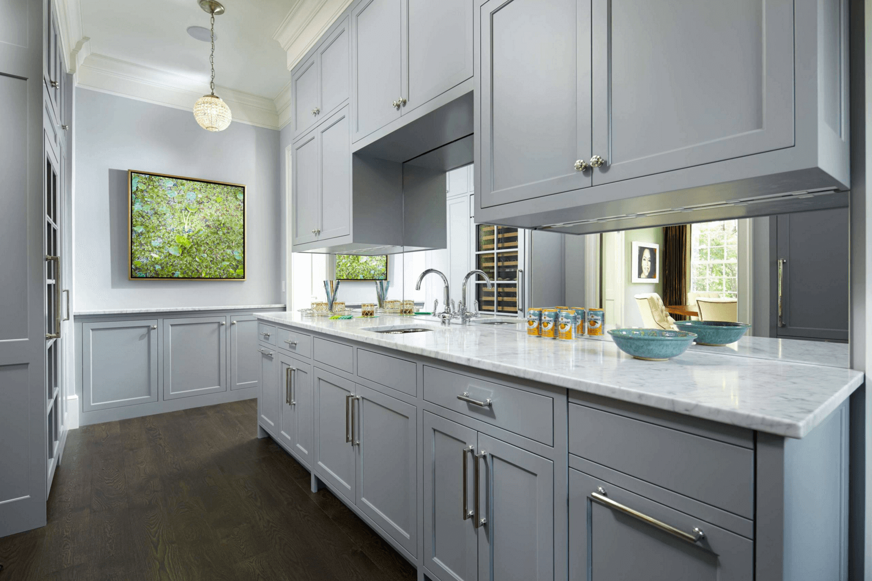 Идея дизайна фартука на кухню: зеркальный - фото 6