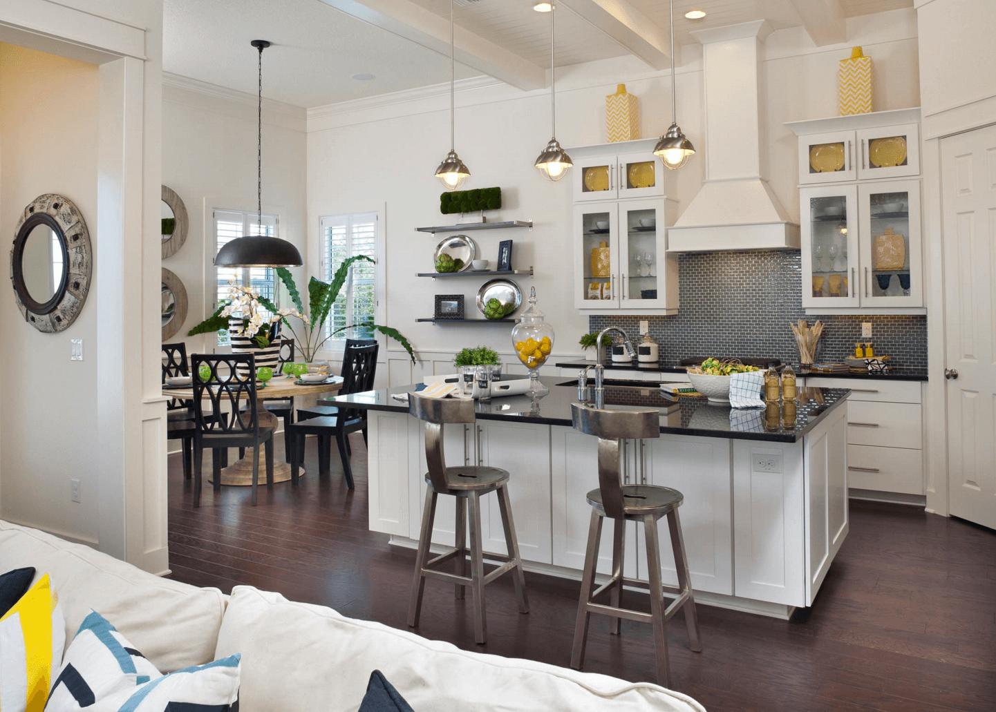 Идея дизайна фартука на кухню. Обновлённая кухня