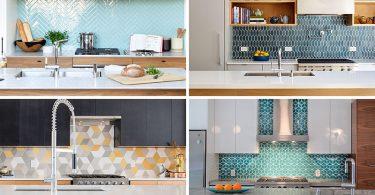 Фото вариантов кухонных фартуков