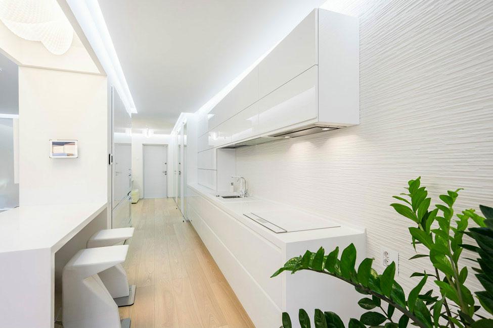 Роскошный интерьер белой кухни - Фото 2