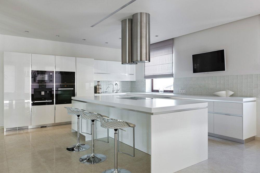 Роскошный интерьер белой кухни - Фото 24