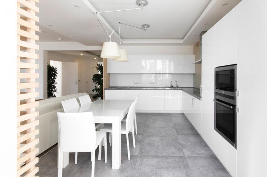 Роскошный интерьер белой кухни - Фото 39