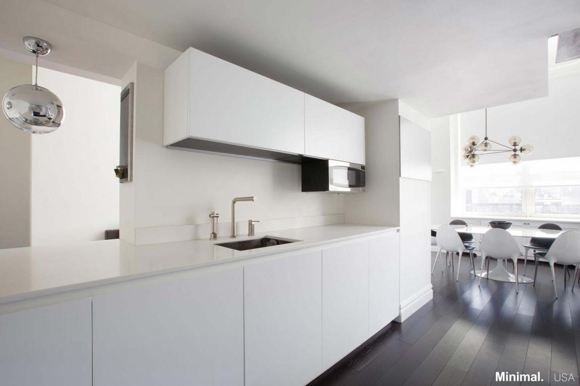 Роскошный интерьер белой кухни - Фото 42