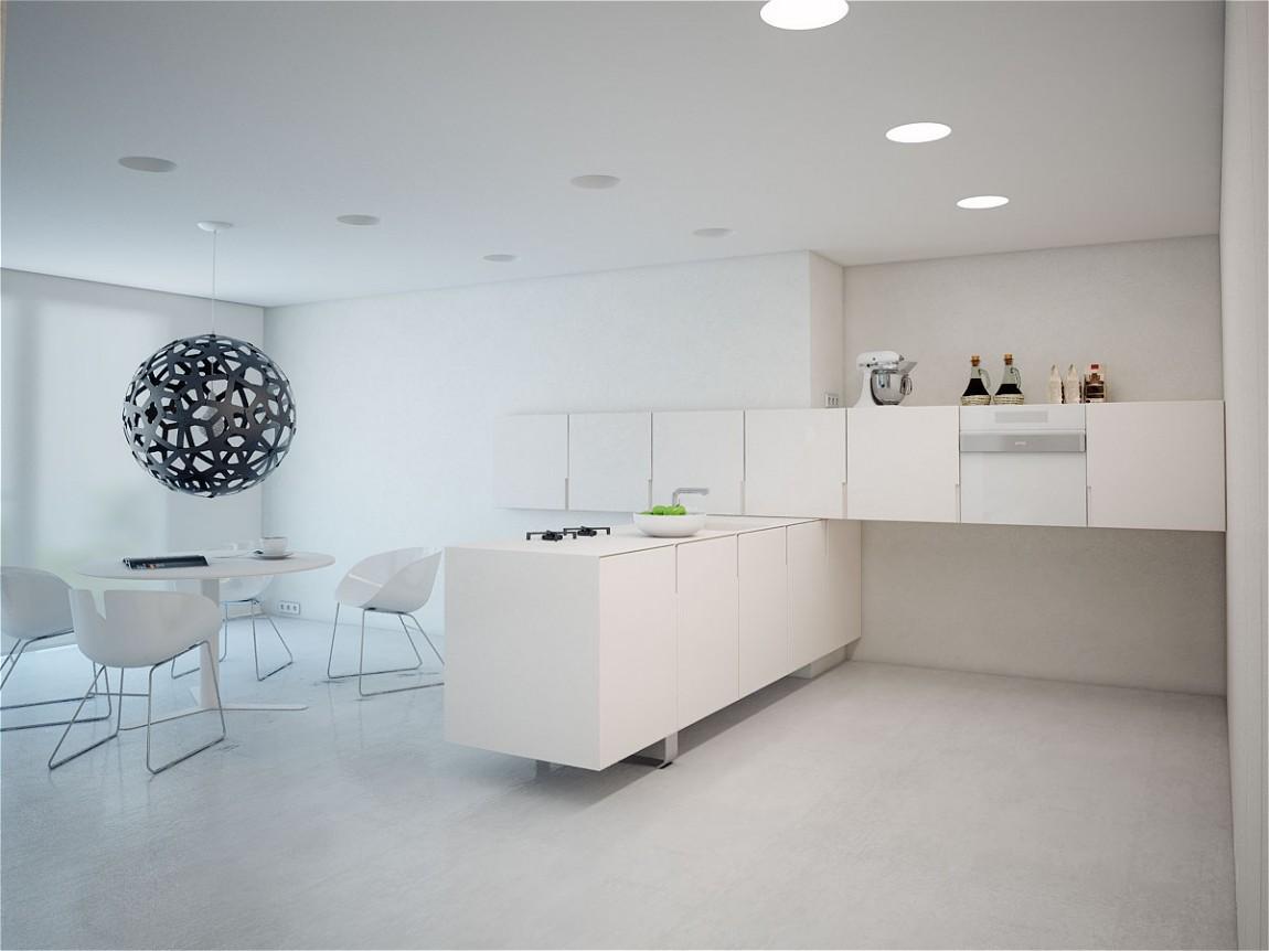Роскошный интерьер белой кухни - Фото 49