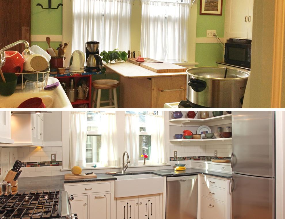 Интерьер кухни 10 м2 до и после реконструкции