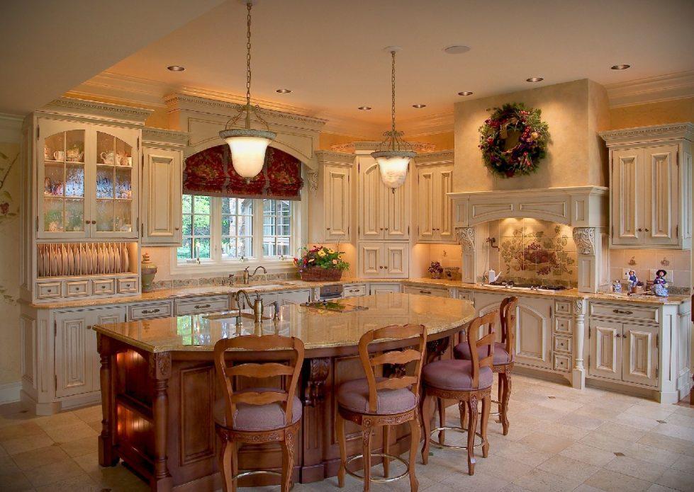 Интерьер кухни в бежевом цвете - фото 6