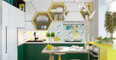 20 простых интерьеров: кухни в холодных тонах