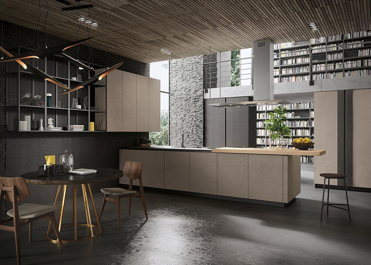 Современный интерьер кухни в стиле минимализм