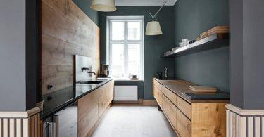 Интерьеры кухонь без верхних шкафов - модная тенденция