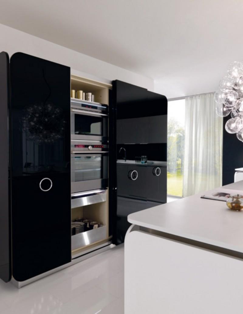 Оригинальный дизайн гарнитура с раздвижными дверями кухни IT-IS