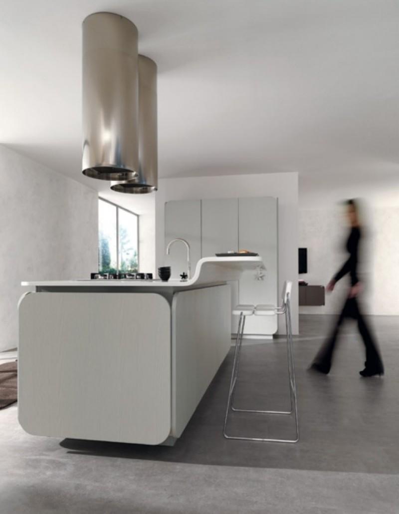 Необычный дизайн кухни IT-IS в минималистском стиле