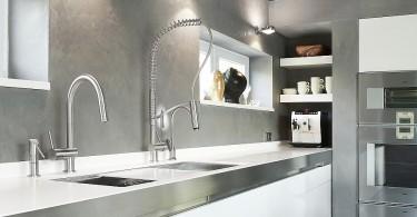 Элегантный дизайн итальянских кухонных смесителей от MGS