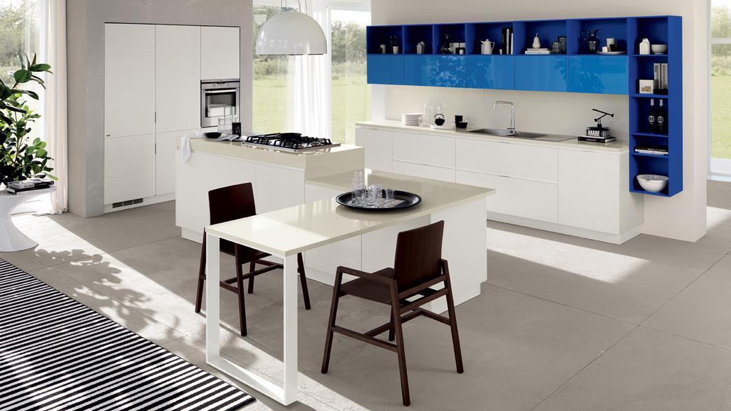 Восхитительный дизайн кухни Mood в стиле модерн от Scavolini
