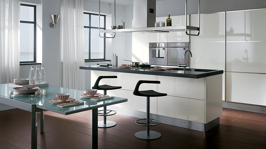 Восхитительный дизайн итальянской кухни Mood от Scavolini