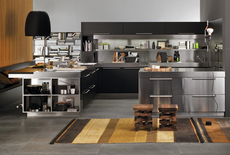 Роскошный дизайн кухонного гарнитура Arclinea в сером цвете