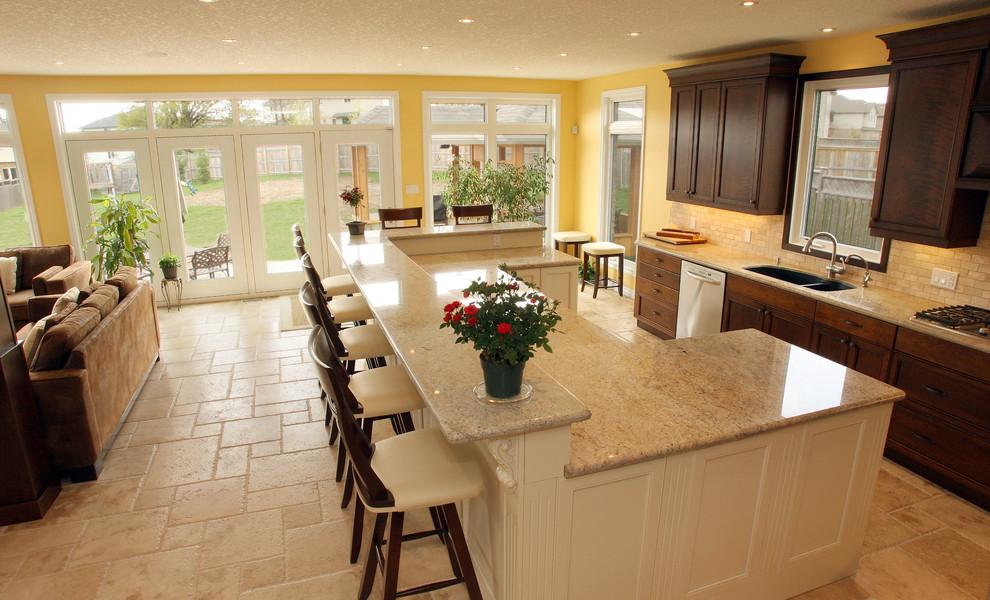 Дизайн кухонного острова - барная стойка