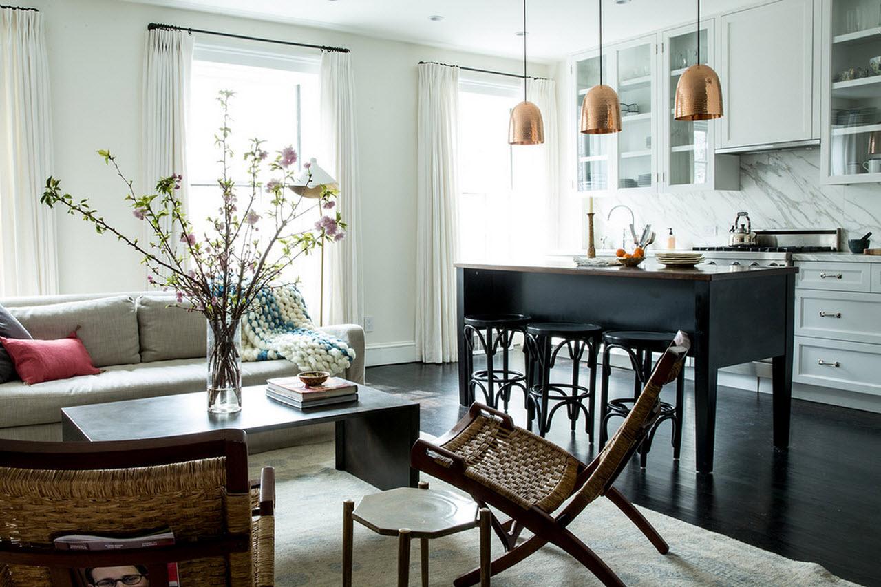 Дизайн кухонного острова - классический стиль