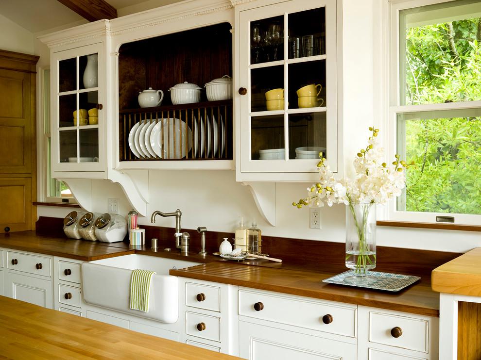 Как правильно организовать кухню: деревянная столешница гарнитура