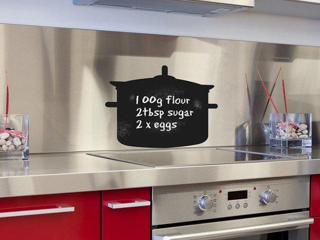 Грифельная доска в стильном интерьере кухни