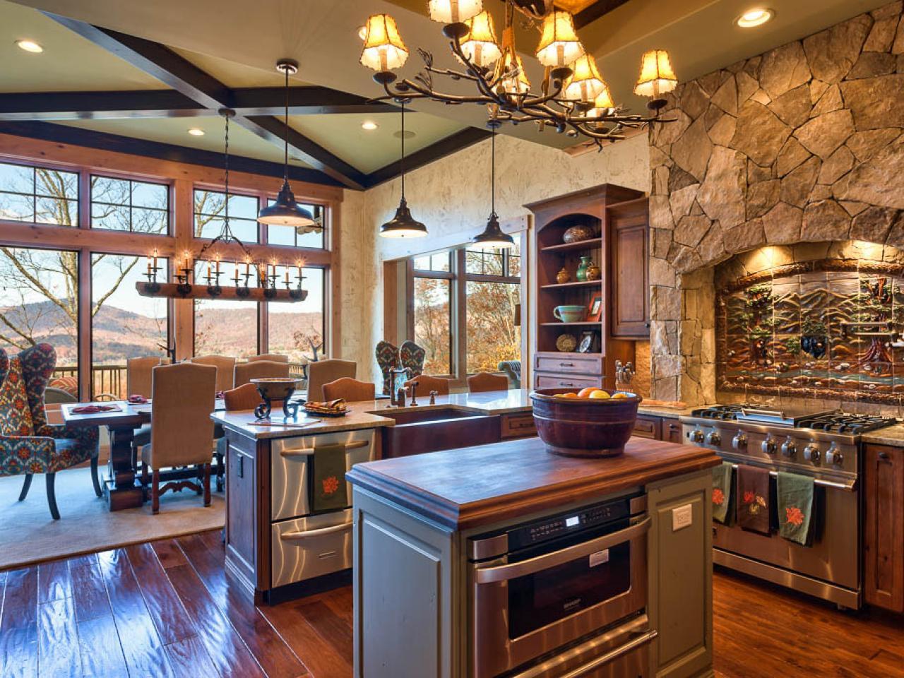 Каменная кладка в интерьере кухни - фото 4