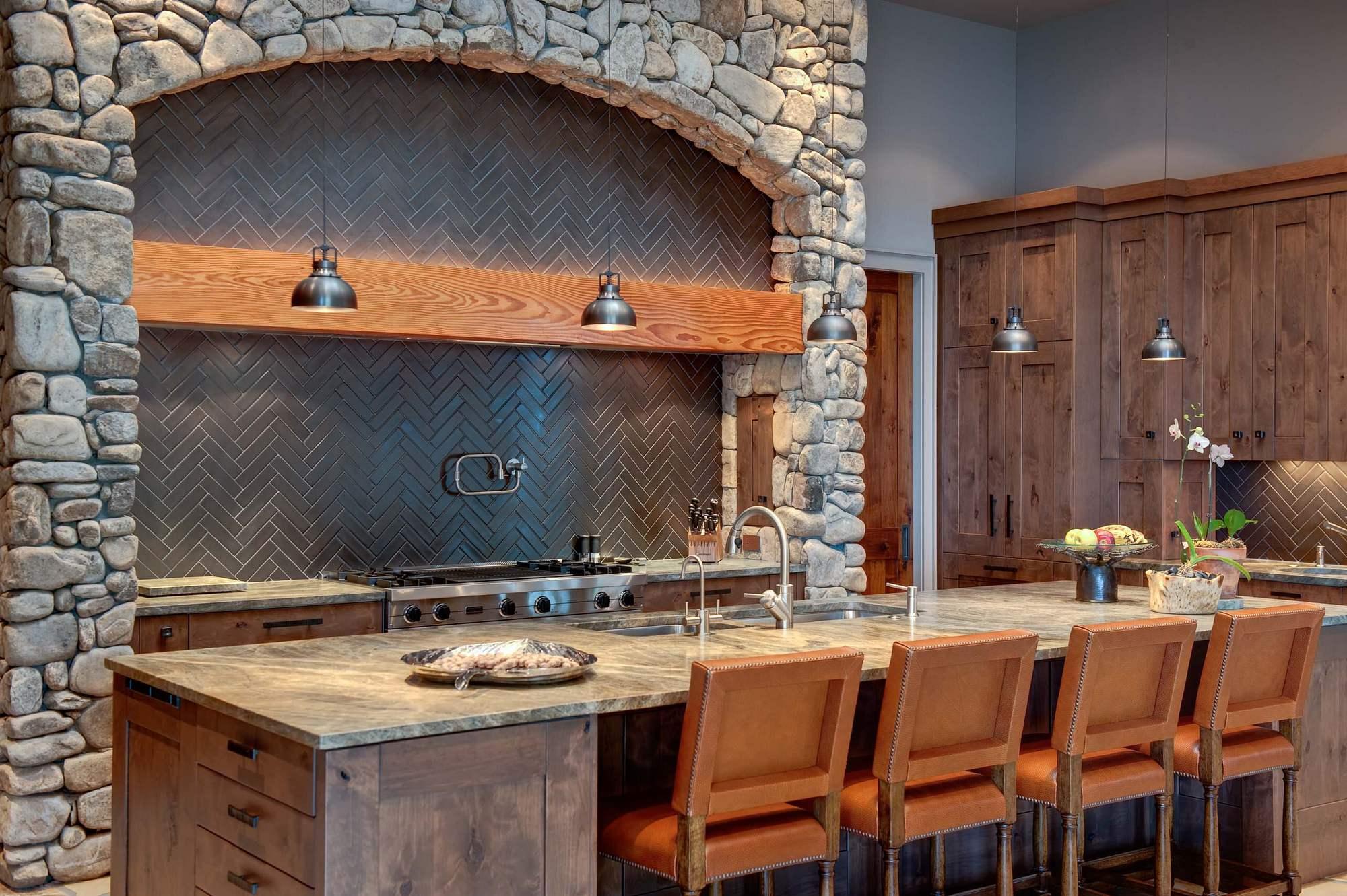 Камень в интерьере современной кухни - фото 1
