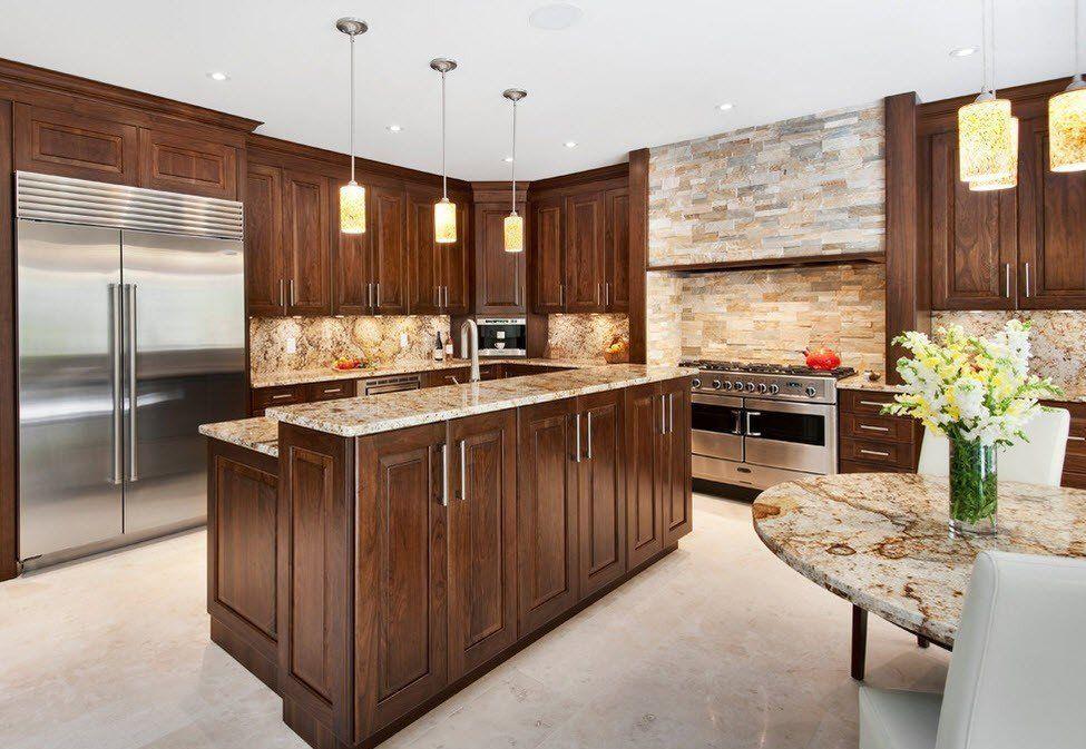 Камень в интерьере современной кухни - фото 3