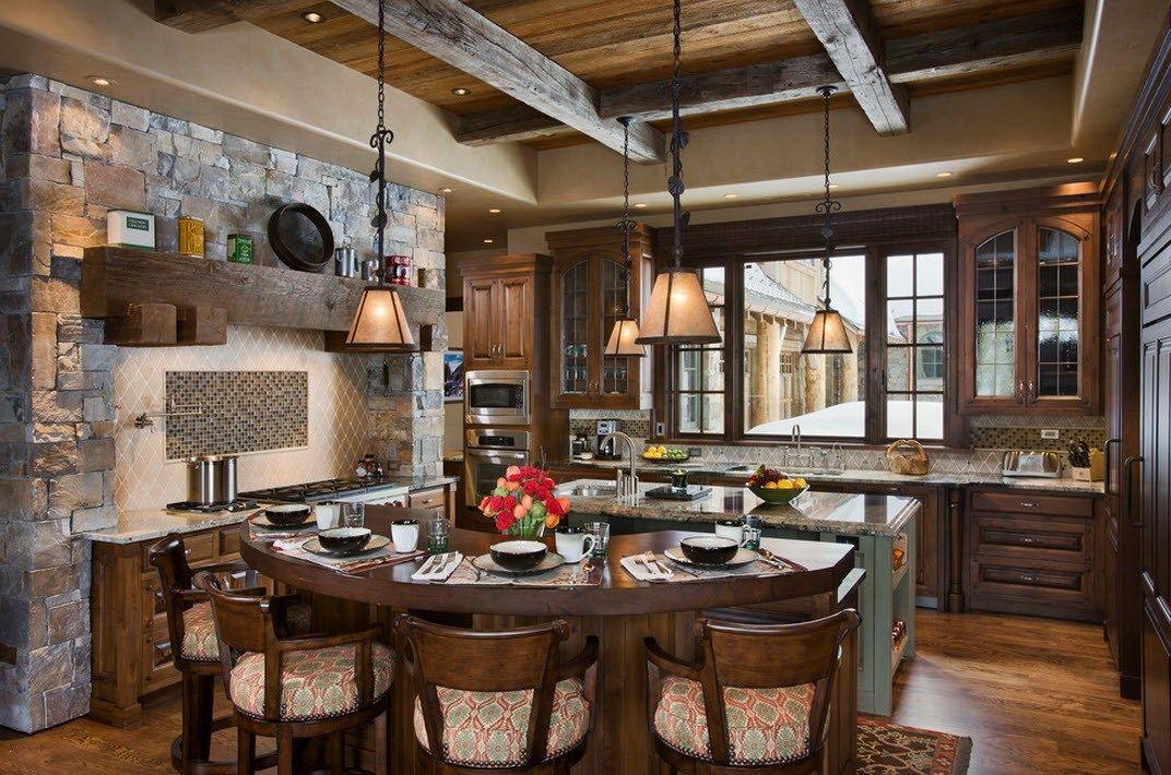 Камень в интерьере современной кухни - фото 5