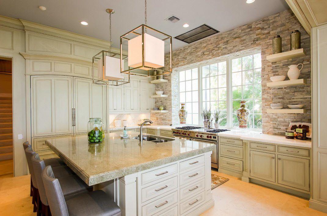 Камень в интерьере современной кухни - фото 7
